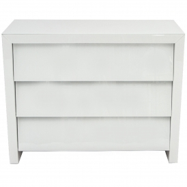 White Glass Chest Of Drawers