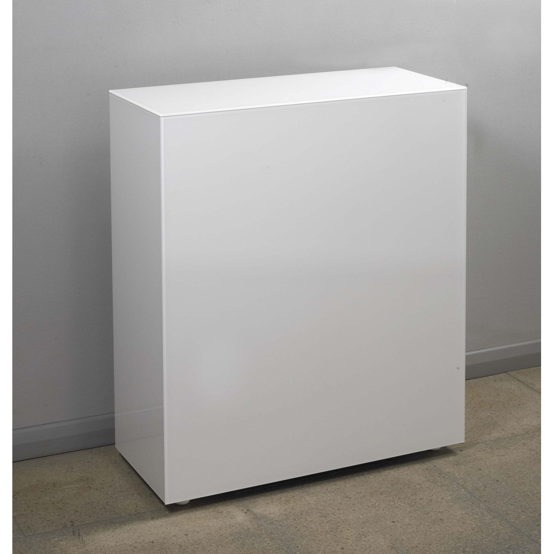 White Glass Cube. White Glass Cube   Glass Furniture from Homesdirect 365 UK