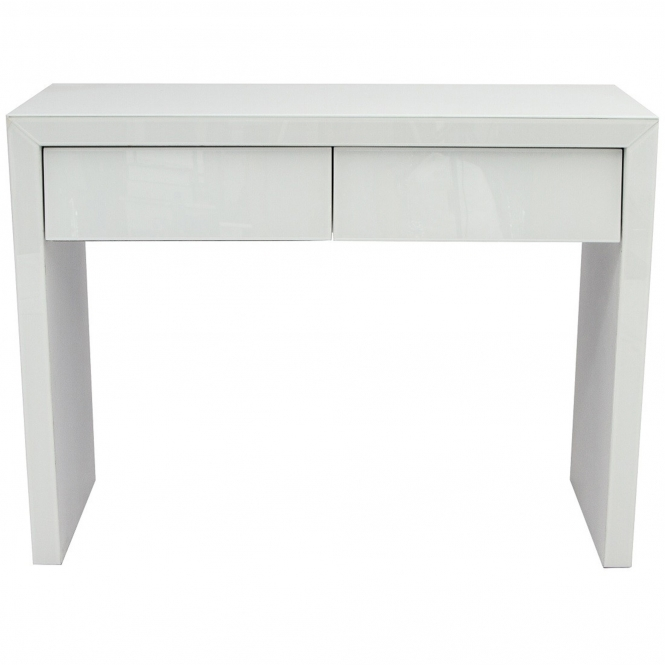 White Glass Dressing Table French Furniture From