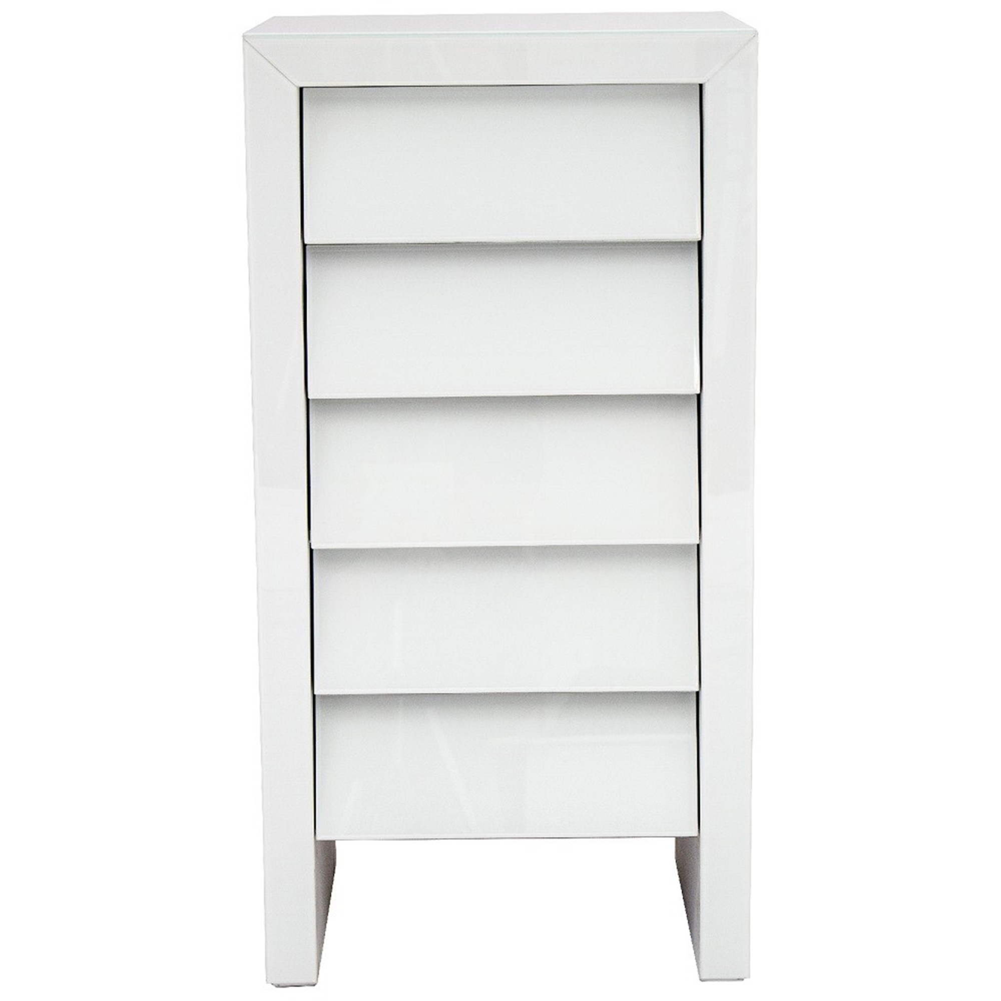 White Glass Tallboy Chest French Furniture from Homesdirect 365 UK