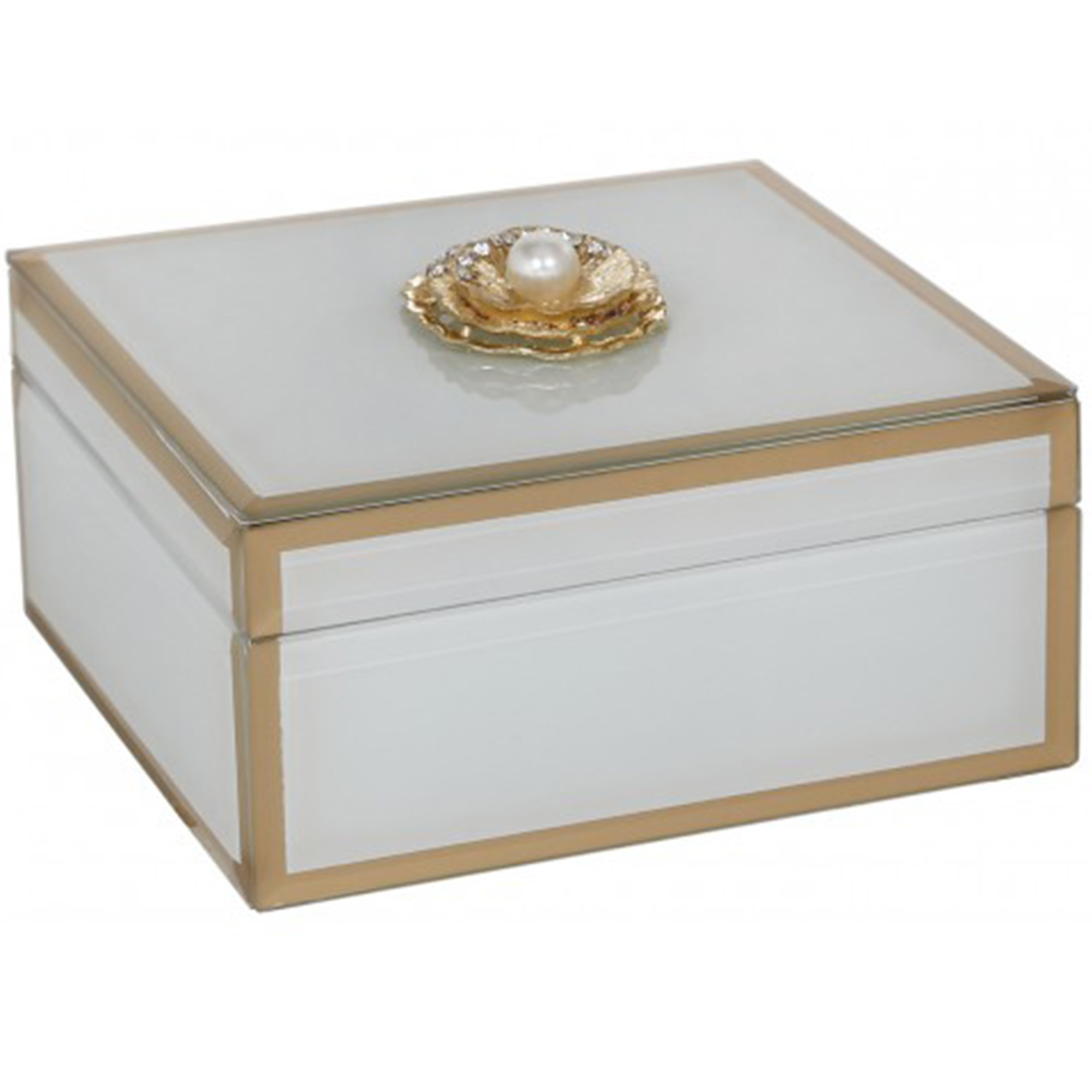 White U0026amp; Gold Jewellery Box
