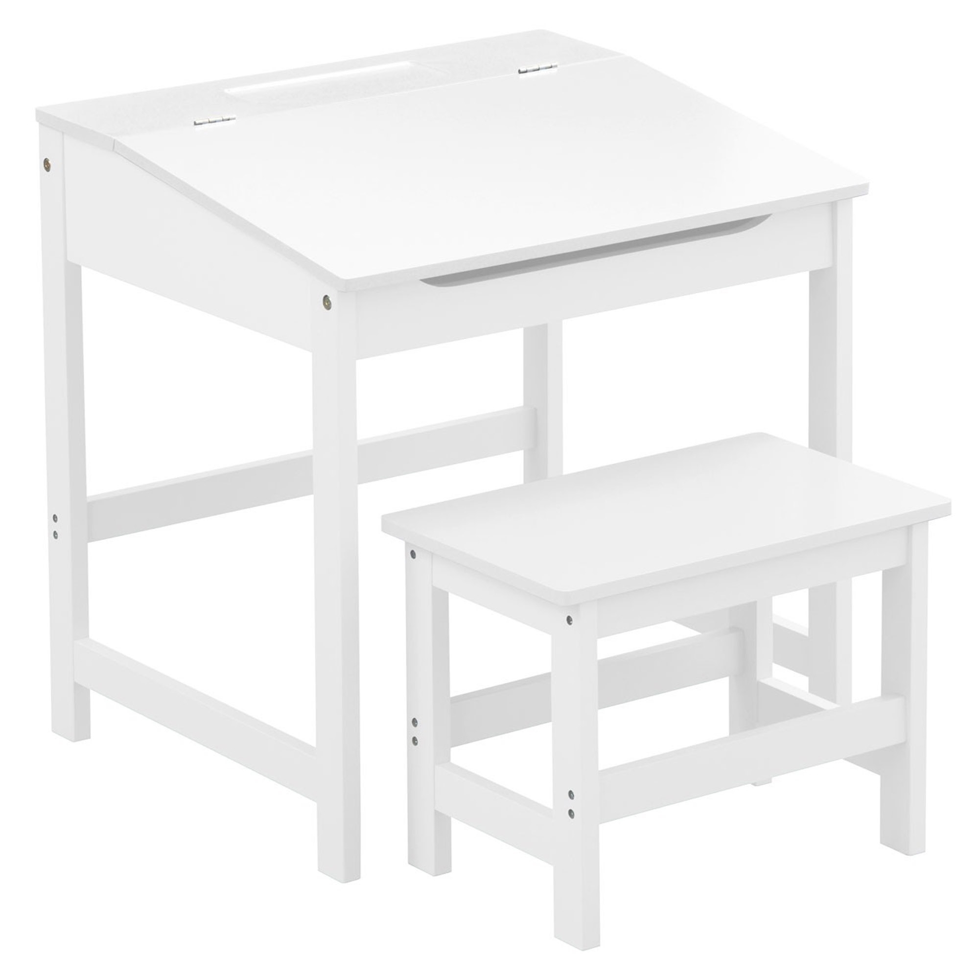 White kids desk and stool modern contemporary kids furniture