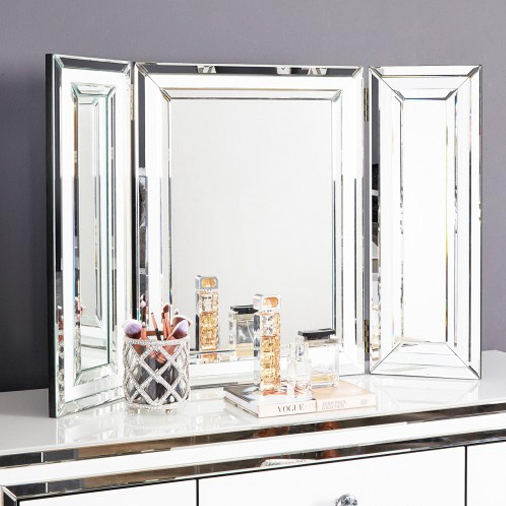 Vanity Mirror.White Mirror Frame Vanity Mirror
