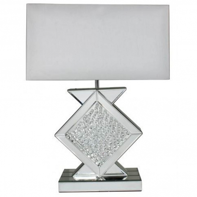 Homes Direct 365 White Mirrored Astoria Table Lamp