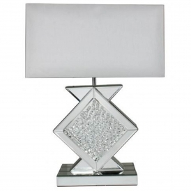 White Mirrored Astoria Table Lamp
