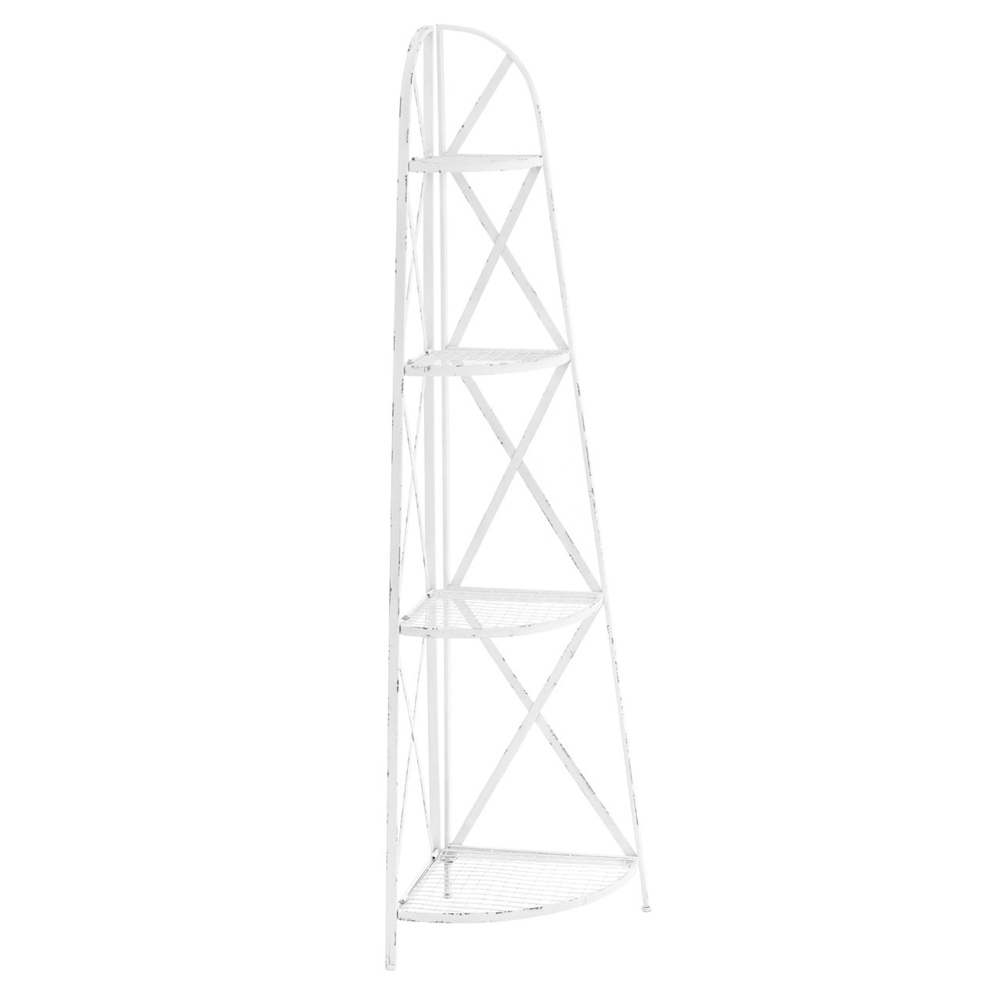 White New York Loft Corner Shelf Unit