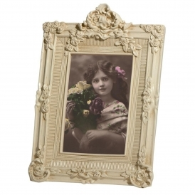 White Portrait Antique French Style Photo Frame