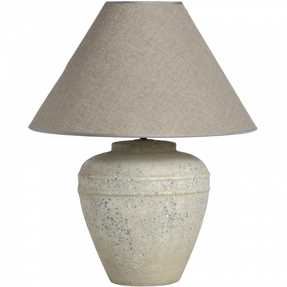 Stone effect ceramic table lamp white stone effect ceramic table lamp mozeypictures Choice Image