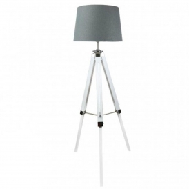 White Tri-stand Floor Lamp