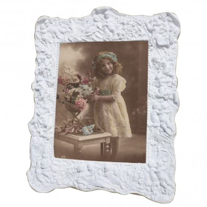 White Vintage Antique French Style Photo Frame