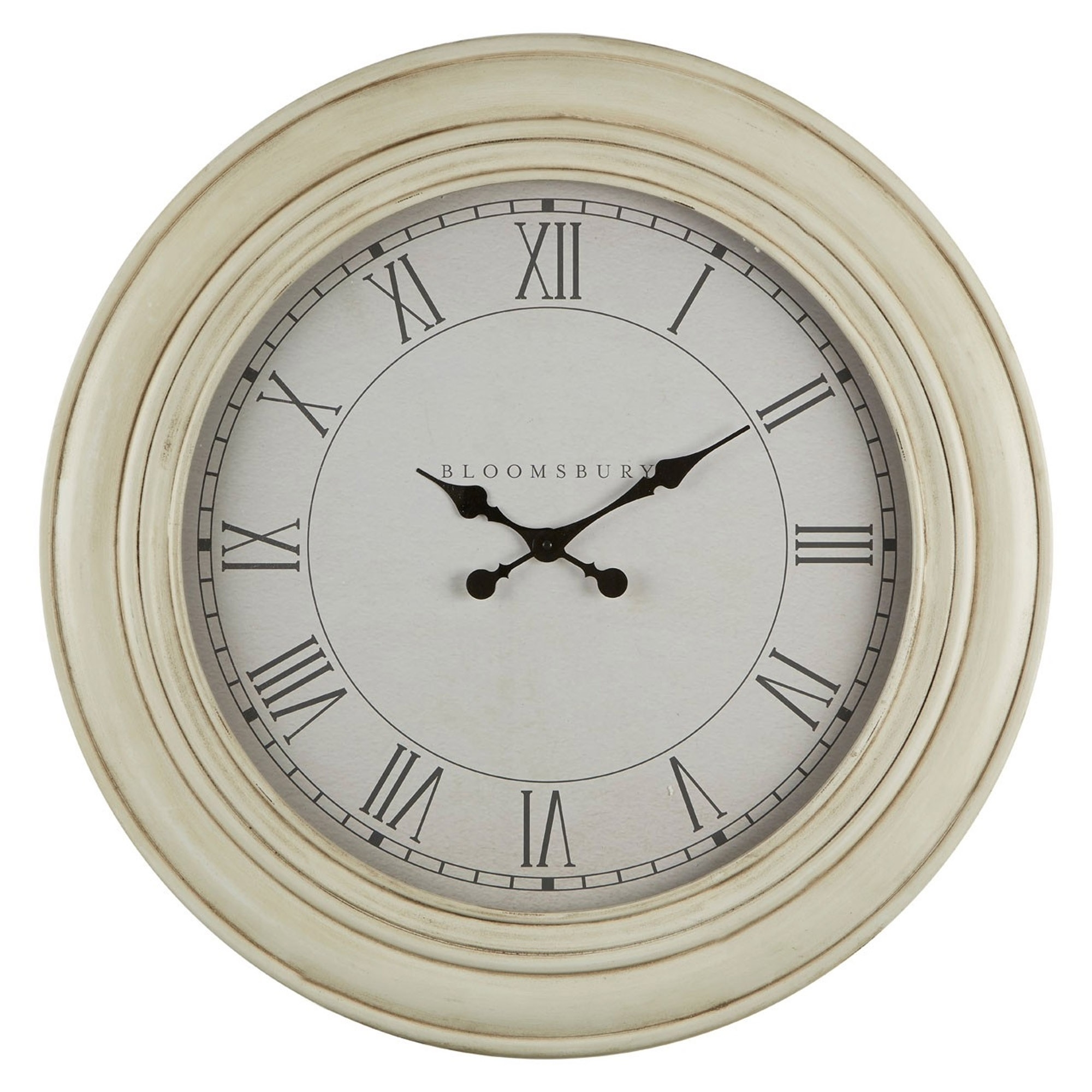 White Wall Clock Contemporary Lounge Furniture