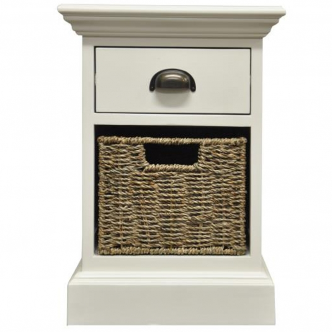 Wicker Merchant 1 Over 1 Bedside Cabinet