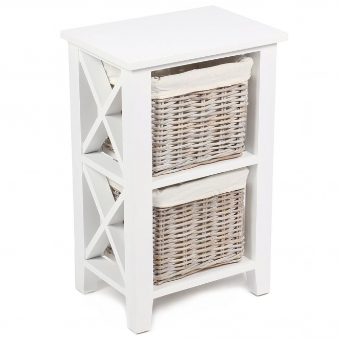 Wicker Merchant 2 Basket Cabinet