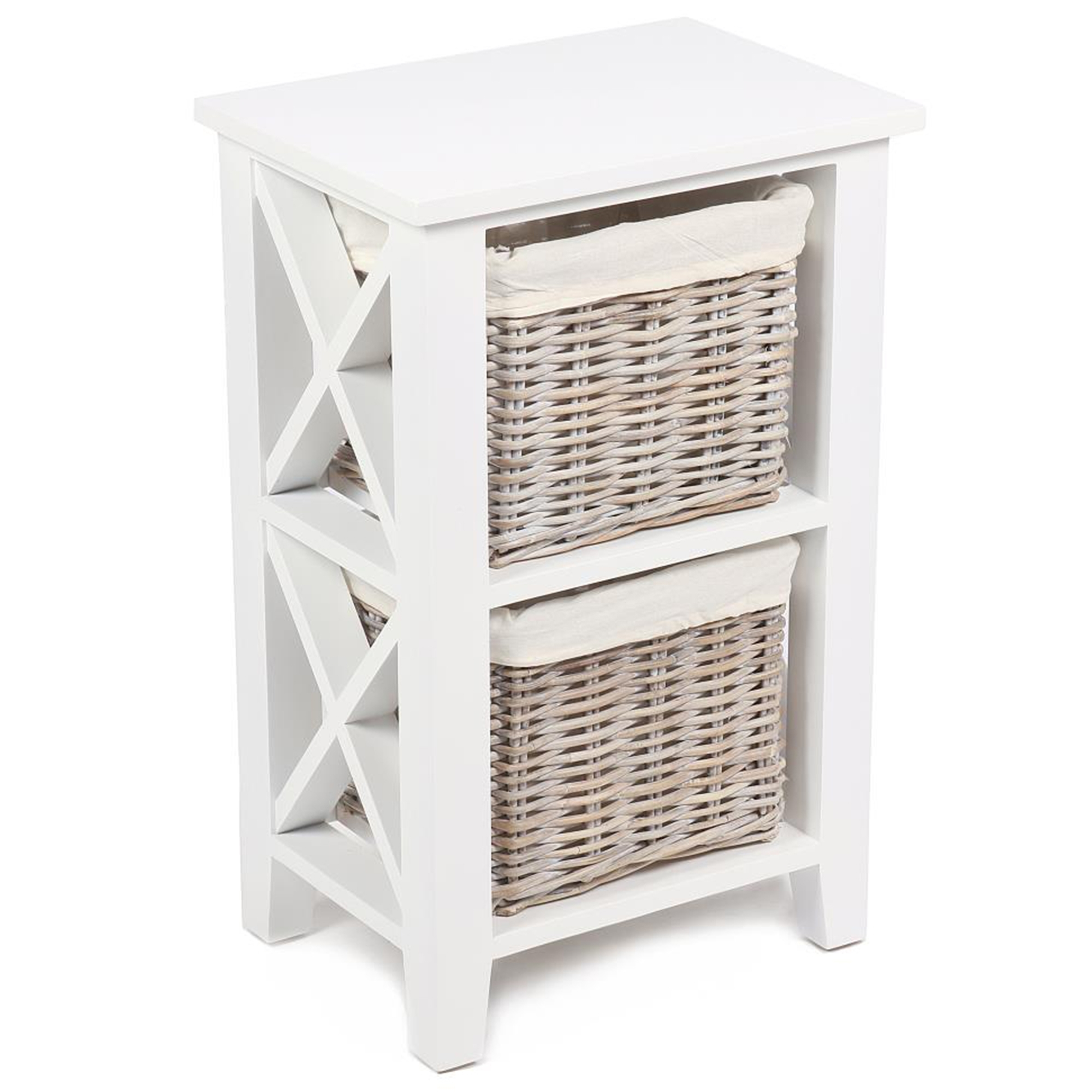 Wicker Merchant 2 Basket Cabinet - French Furniture from ...