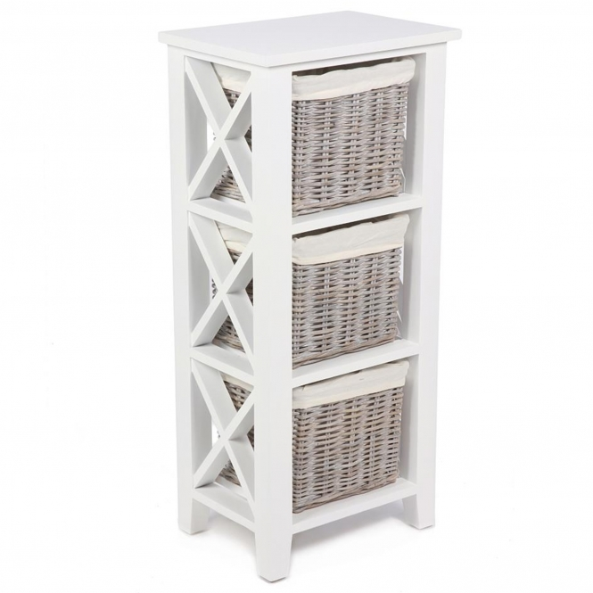 Wicker Merchant 3 Basket Cabinet