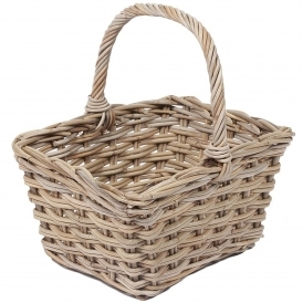 Wicker Merchant Flower Basket