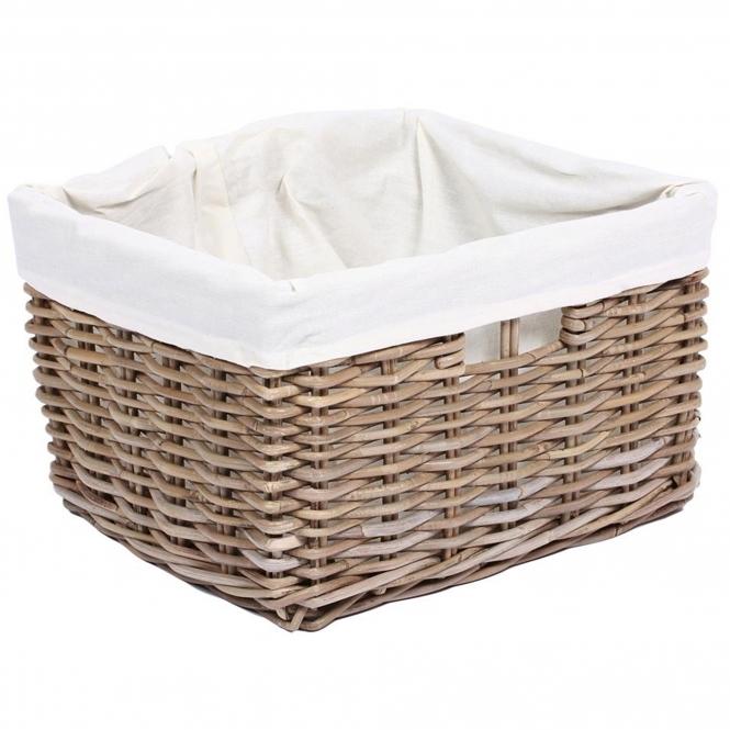 Wicker Merchant Rectangular Basket