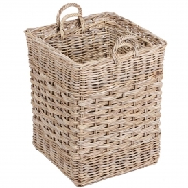 Wicker Merchant Set of 2 Square Baskets