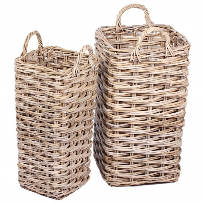 Wicker Merchant Set of 2 Umbrella Baskets