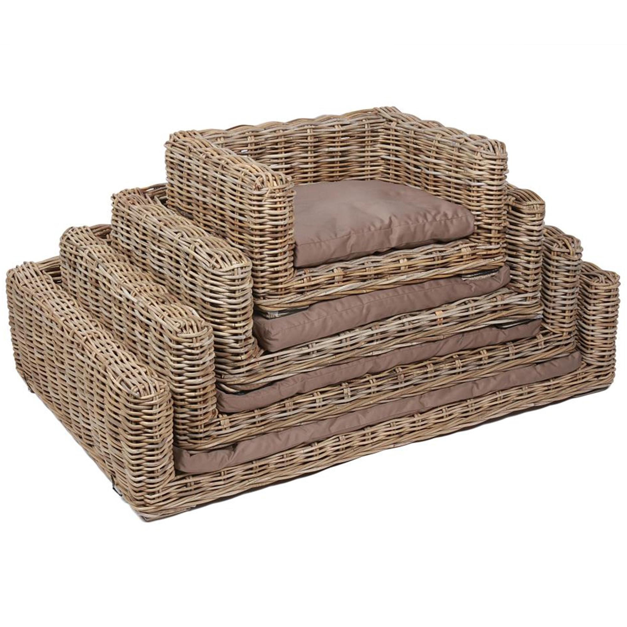 Kooboo Wicker Chair: Wicker Merchant Set Of 4 Rectangular Dog Baskets