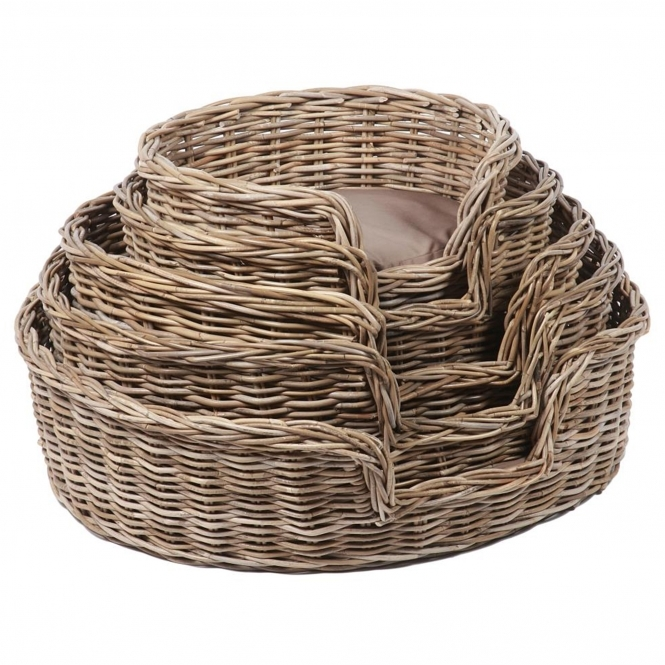 Wicker Merchant Set of 5 Oval Dog Baskets