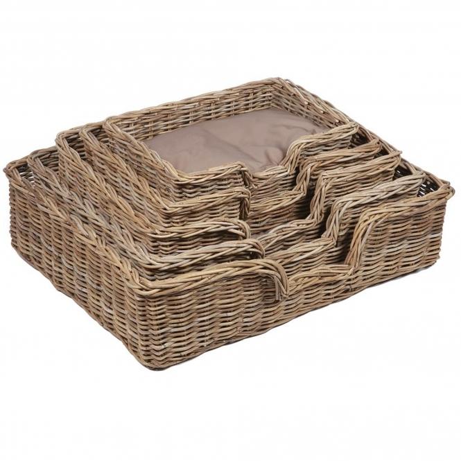 Kooboo Wicker Chair: Wicker Merchant Set Of 5 Rectangular Dog Baskets