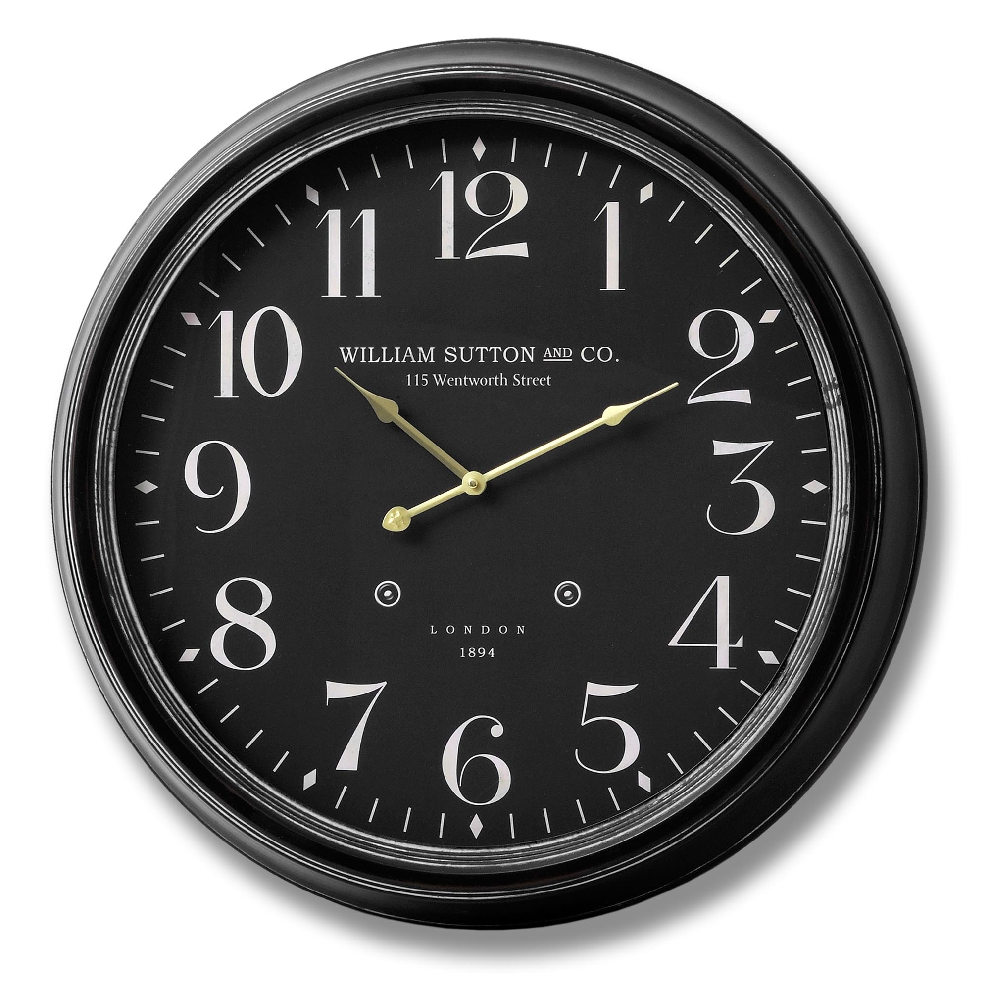 William Sutton And Co Large Wall Clock Homesdirect365