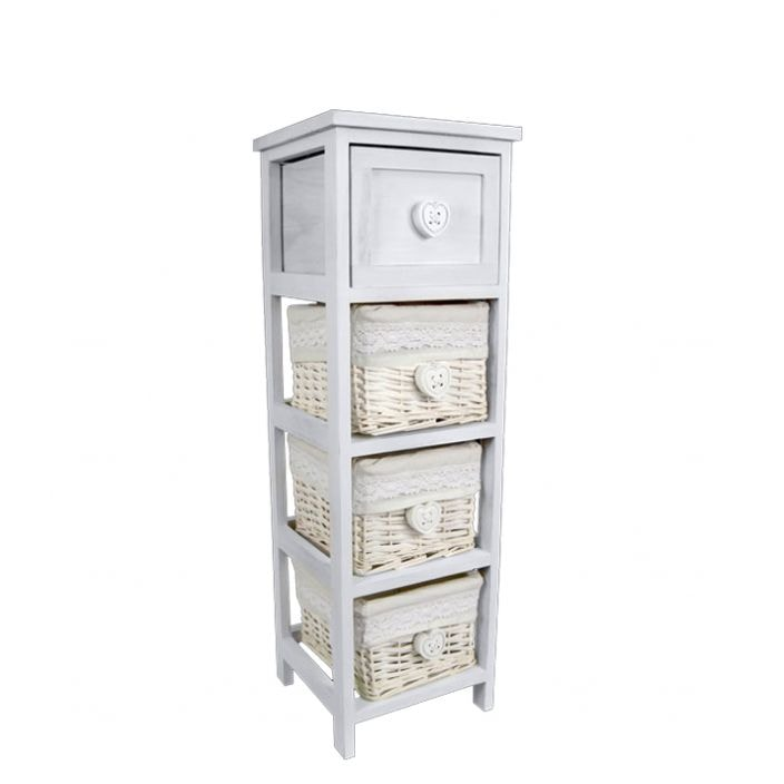 Willow Birch Narrow Shabby Chic Storage Drawers