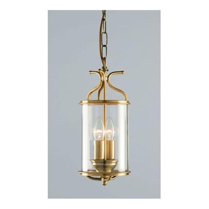 Winchester Blown Glass Antique Brass Lantern
