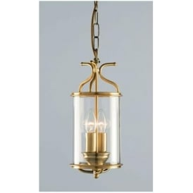 Winchester Blown Glass Antique Brass Lantern