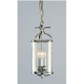 Winchester Blown Glass Chrome Lantern