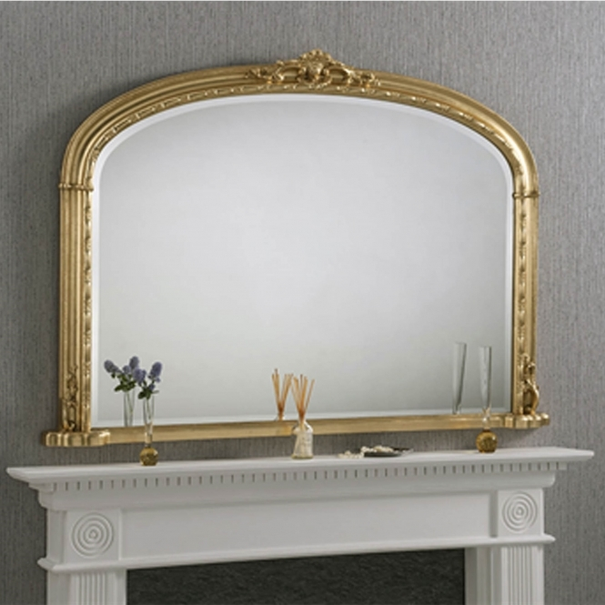 Windsor Antique French Style Gilt Overmantle Mirror