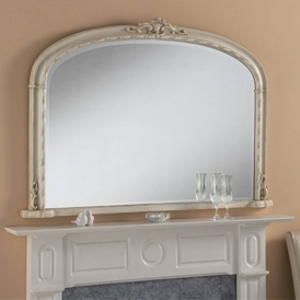 Windsor Antique French Style Ivory Overmantle Mirror
