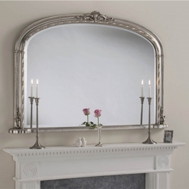 Windsor Antique French Style Silver Overmantle Mirror