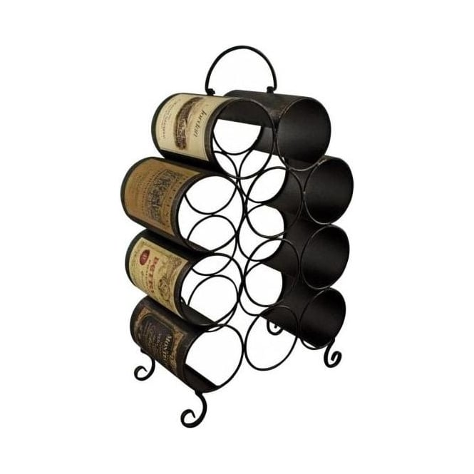 Wine Label Bottle Rack