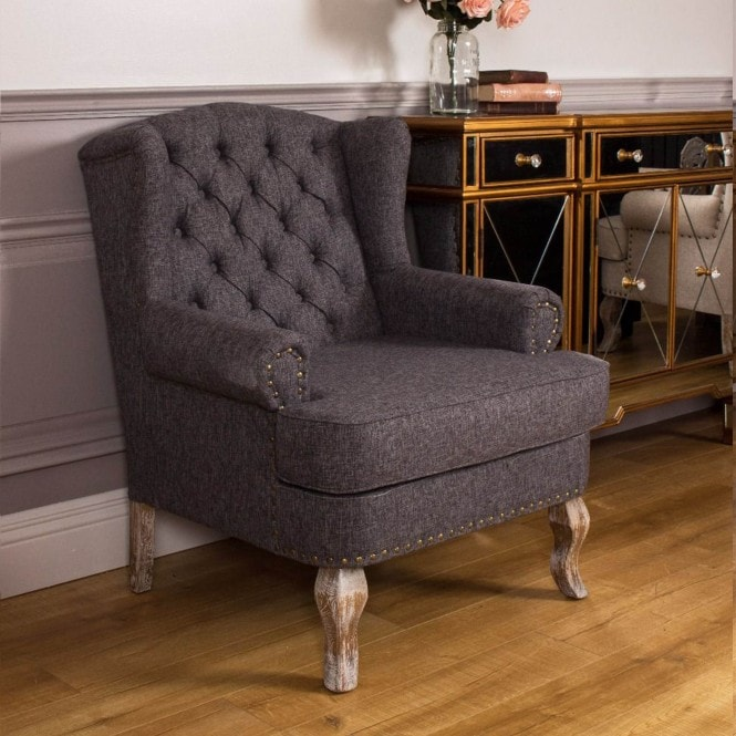 Wingback Antique French Style Chair
