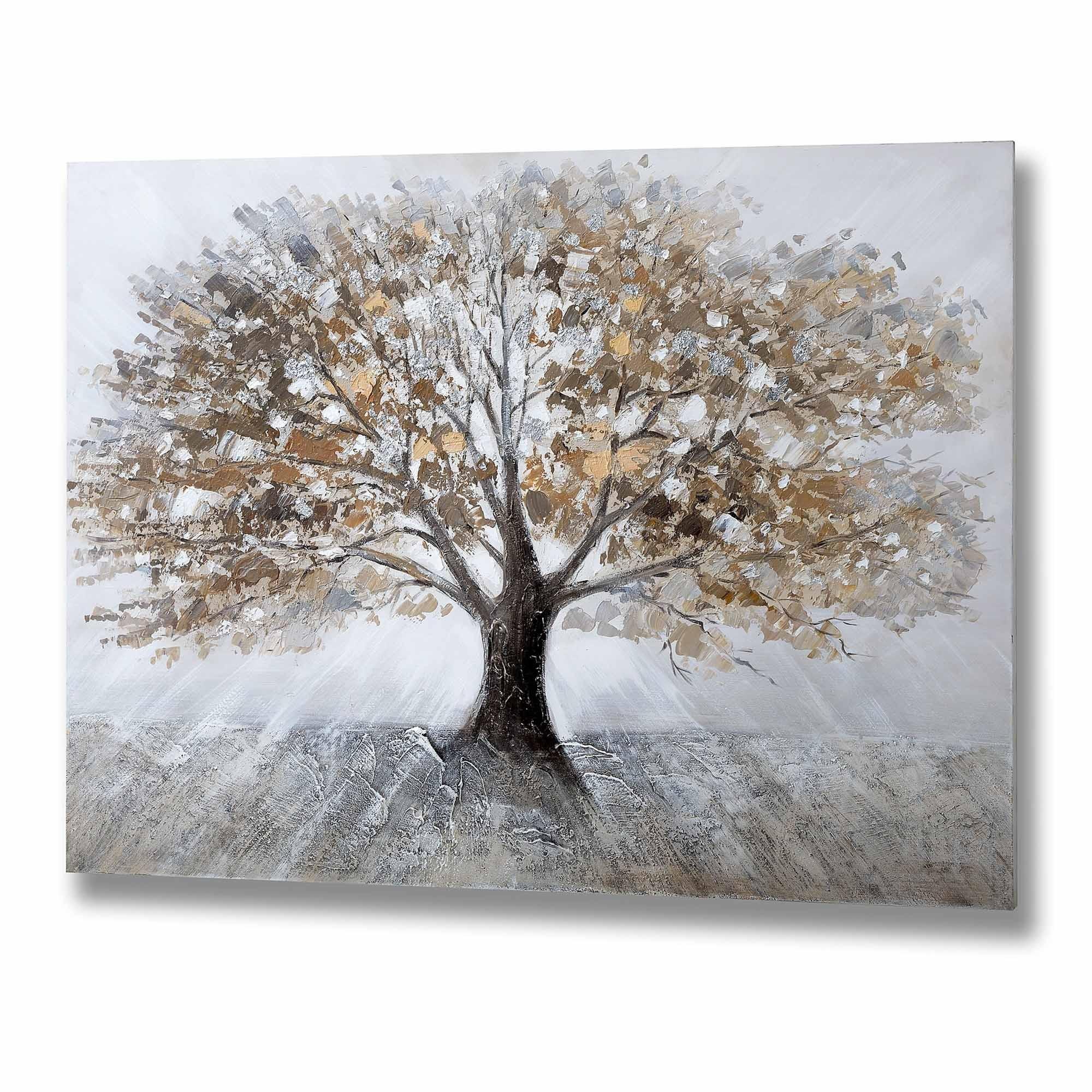 Winter Tree Wall Art Oil Art Homesdirect365