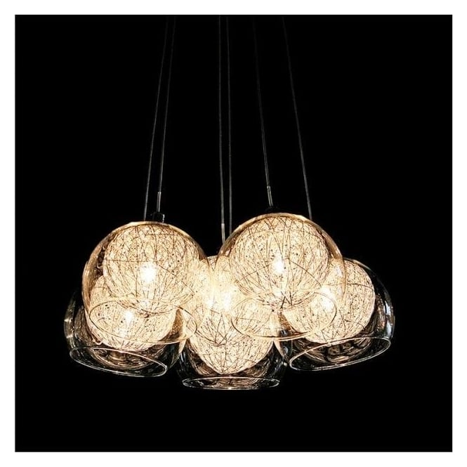 Wire Ball Shade Ceiling Light