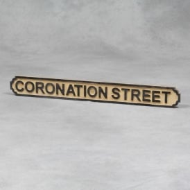 "Wooden ""Coronation Street"" Road Sign"