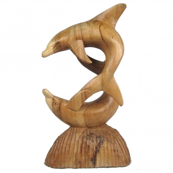 Wooden Dolphins Ornament