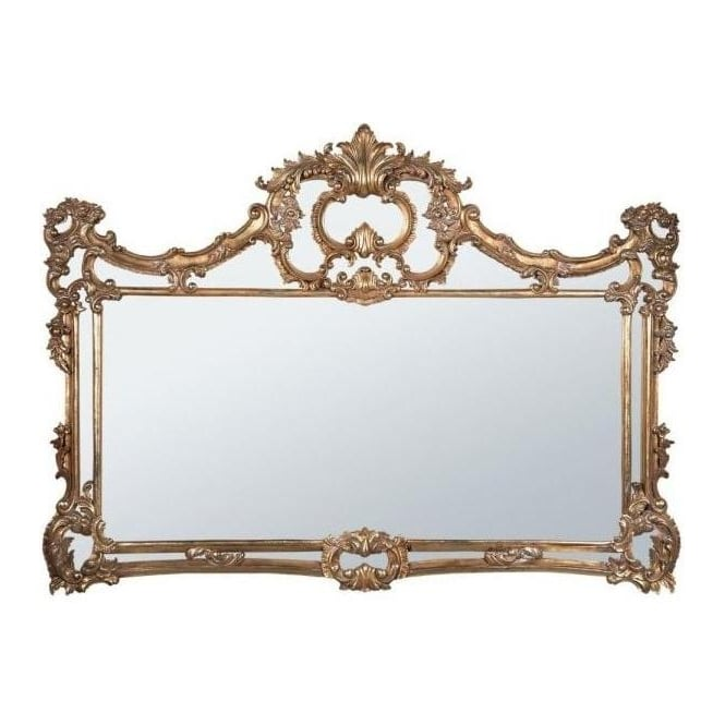 Wooden Frame Gold Antique French Style Mirror