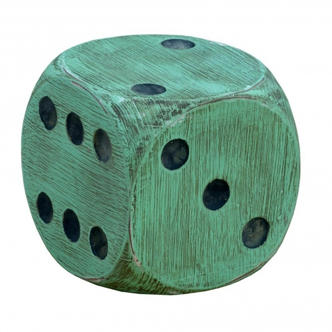 Wooden Green Dice