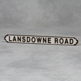 "Wooden ""Landsdowne Road"" Road Sign"