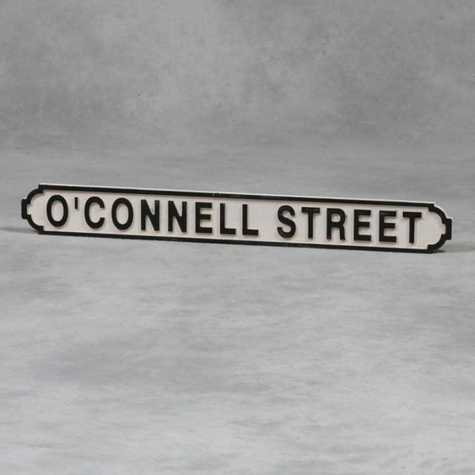 "Wooden ""O'Connell Street"" Road Sign"