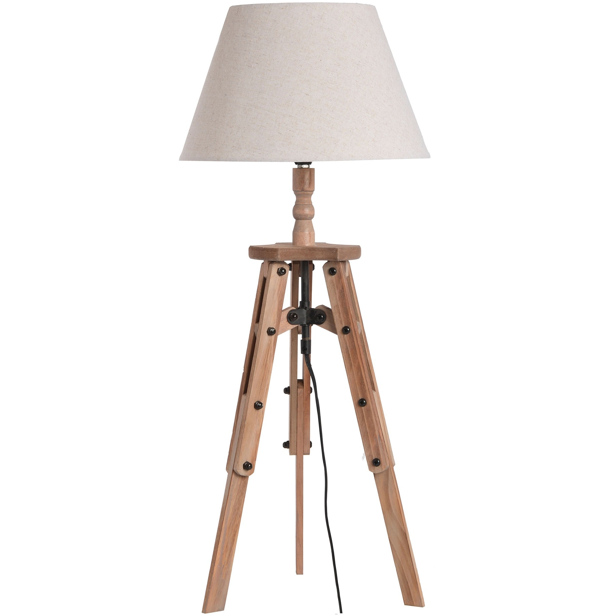 Wooden tripod table lamp lamp homesdirect365 wooden tripod table lamp aloadofball Image collections