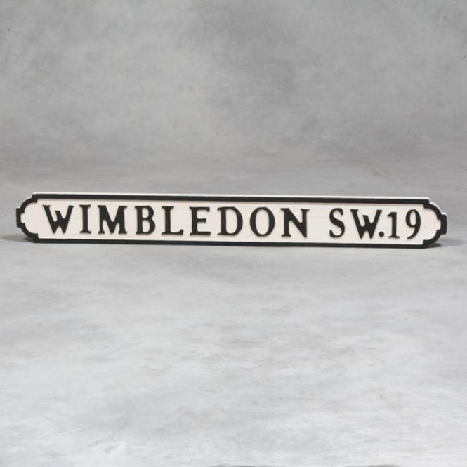 "Wooden ""Wimbledon SW19"" Road Sign"