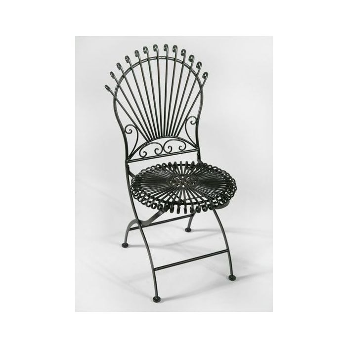Wrought Iron Garden Chair Bistro, White Wrought Iron Garden Furniture Uk