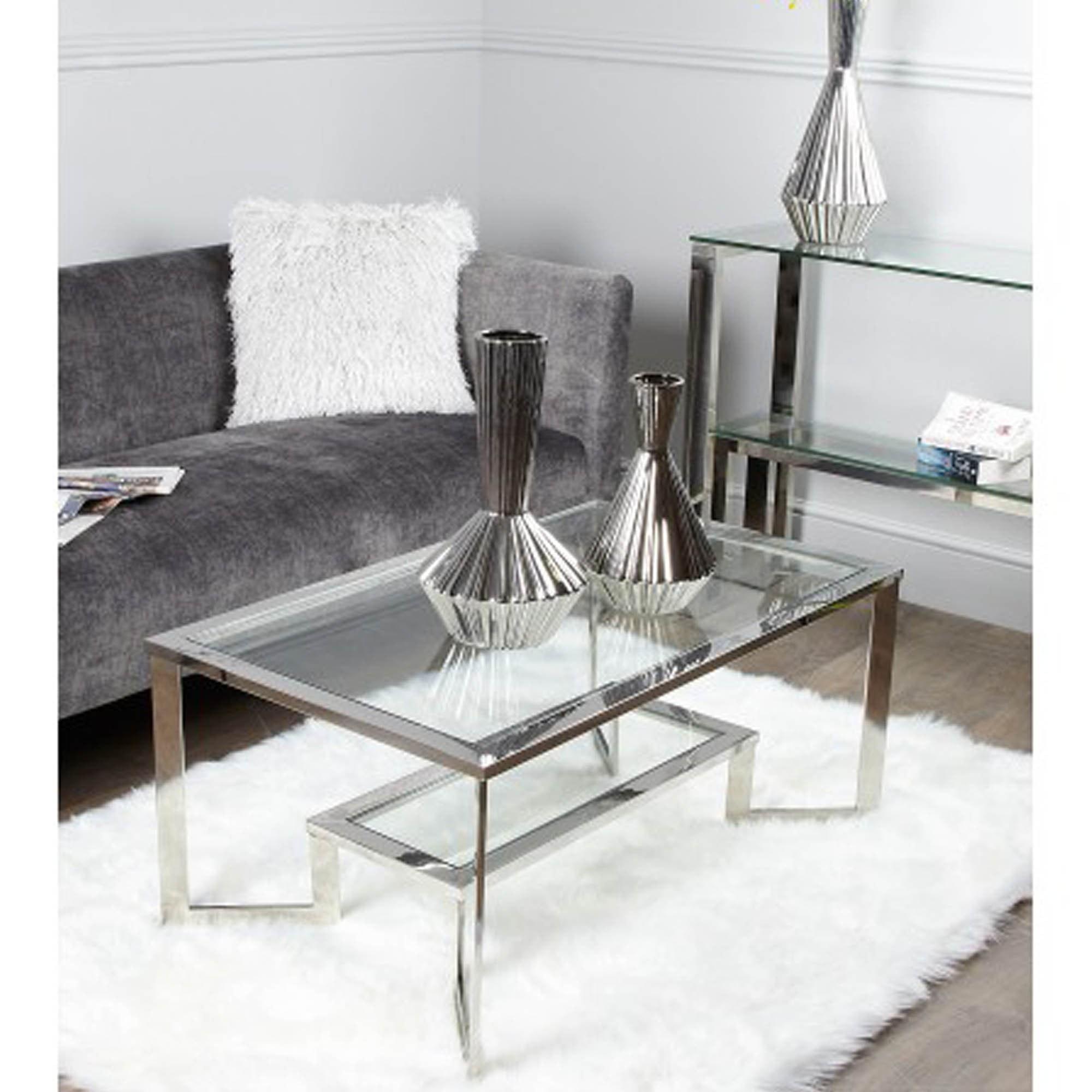 wyatt chrome coffee table