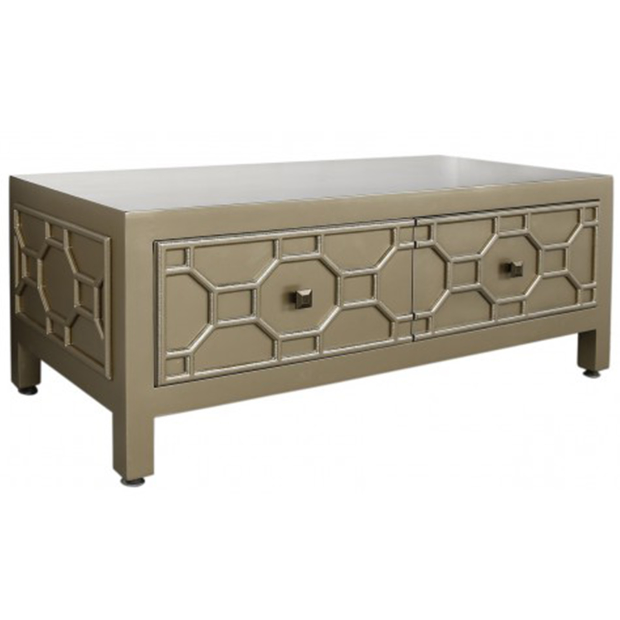 Wynn gold geometric coffee table contemporary modern for Geometric coffee table