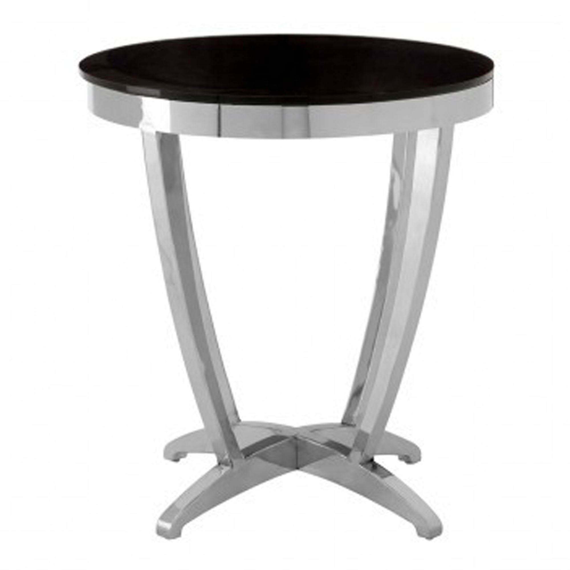 Picture of: Yasmin Black Tempered Glass Side Table Modern Furniture Side Tables